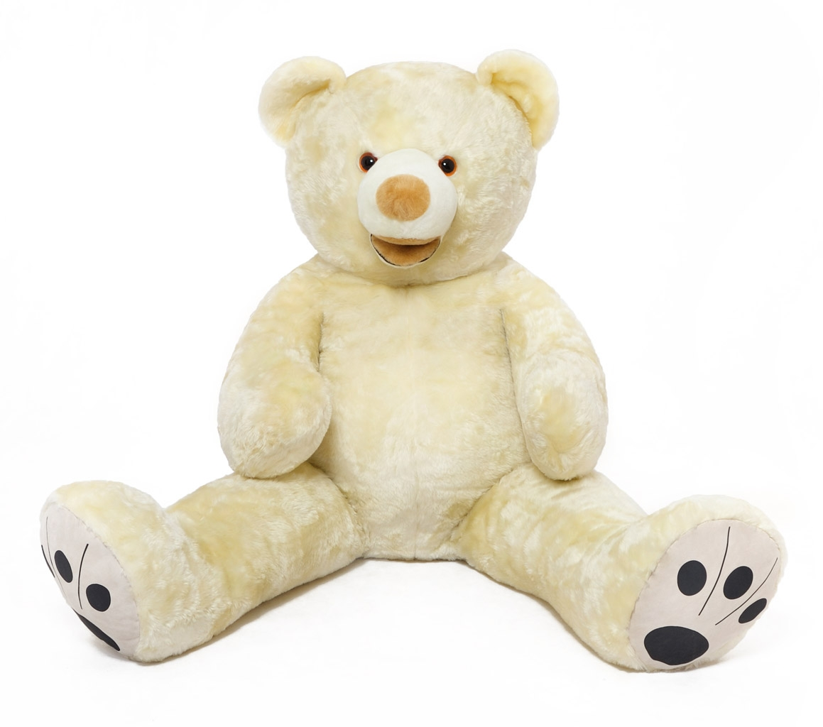 grand nounours blanc 160cm peluche g ante norme ebay. Black Bedroom Furniture Sets. Home Design Ideas